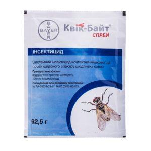 КВИК-БАЙТ® СПРЕЙ  62,5г препарат от мух