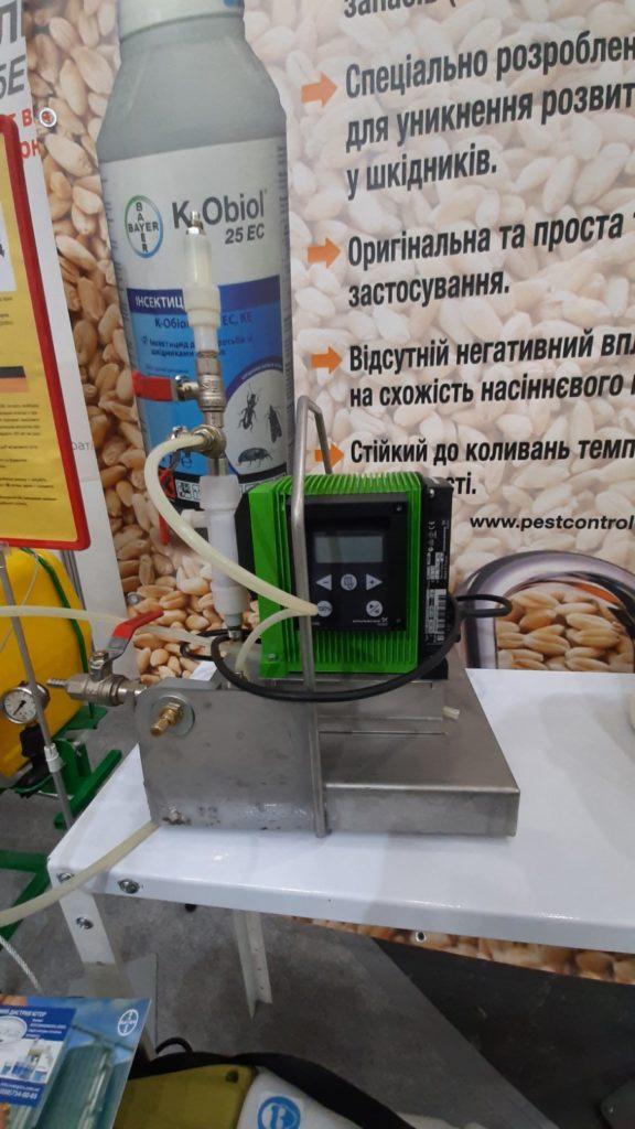 обработка зерна инсектицидом